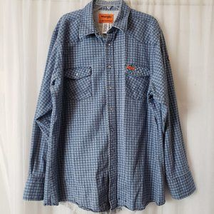 Wrangler FR HRC2 Flame Resistant Shirt Pearl Snap